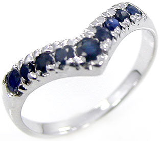 Midnight Blue Natural Sapphire Sterling Silver Ring in your Choice of Size Free Shipping