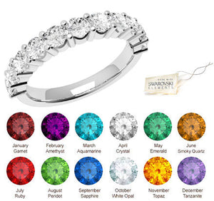 Cherish -  Swarovski® Crystals Birthstone Eternity Ring 10YR ANNIVERSARY FEATURE!