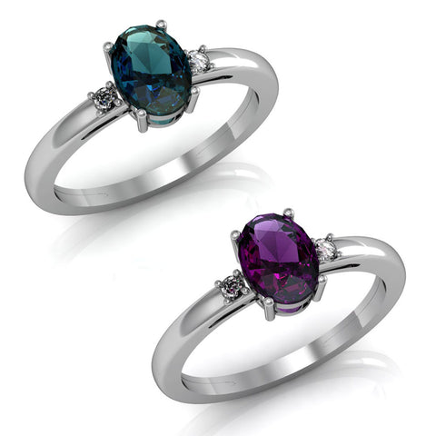 Image of Colour Change Swarovski® & Alexandrite Rings