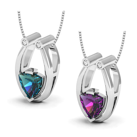 Image of Made with Swarovski Crystals Pendant Made with Lab Created Alexandrite