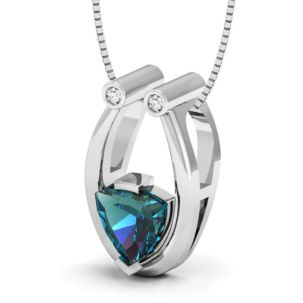 Made with Swarovski Crystals Pendant Made with Lab Created Alexandrite