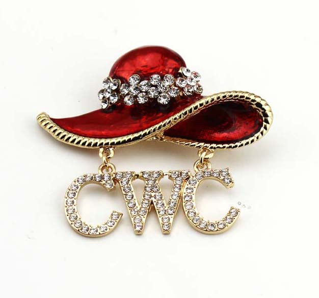CWC Red Hat Pin (brooch)