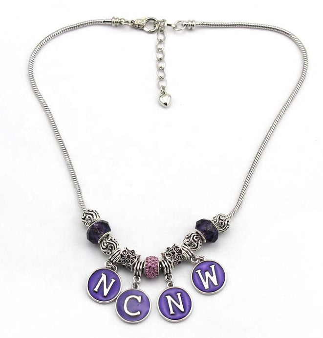 NCNW Purple Circles Necklace