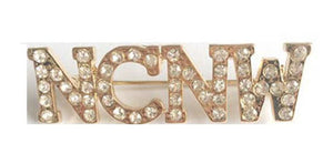 NCNW Pin (brooch) Rhinestone - Gold