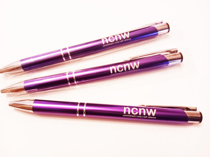 SALE!! One dozen ink pens - NCNW Purple metallic