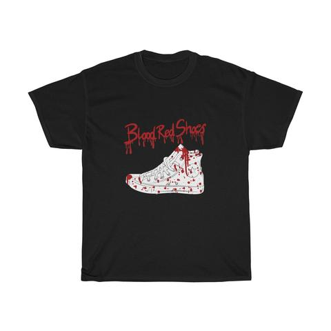 Classic Cotton Men T - shirt - Blood Red Shoes