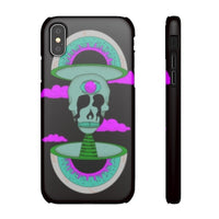 iPhone XS snap case  - Black Psychedelic Rave