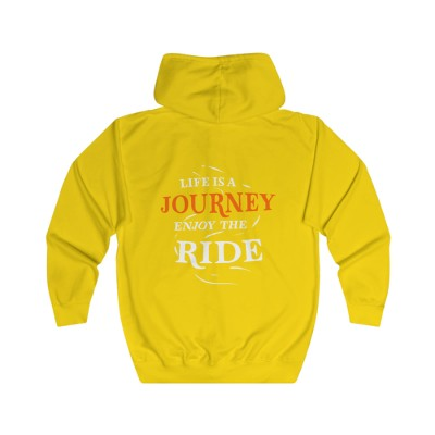 Life is a Journey - Unisex Full Zip Hoodie yellow