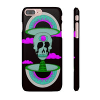iPhone 7 Plus snap case  - Black Psychedelic Rave