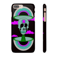 iPhone 8 plus snap case  - Black Psychedelic Rave
