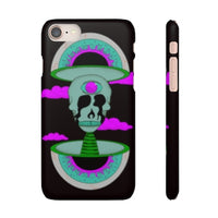 iPhone 8 snap case  - Black Psychedelic Rave