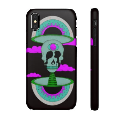 iPhone X snap case  - black psychedelic Rave