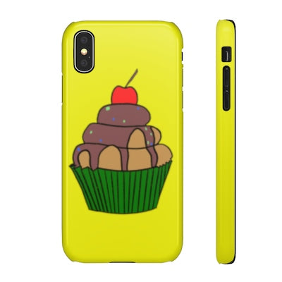 iPhone X Snap case - Retro Cupcake