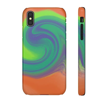 Infused with colours -  iPhone X snap phone case