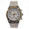 BREITLING Chronograph 18K Two-Tone White Dial Bullet Bracelet Men's Watch