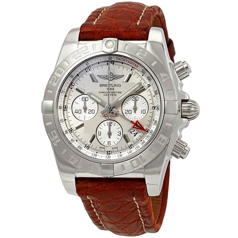 BREITLING Chronomat GMT Automatic Silver Dial Men's Watch