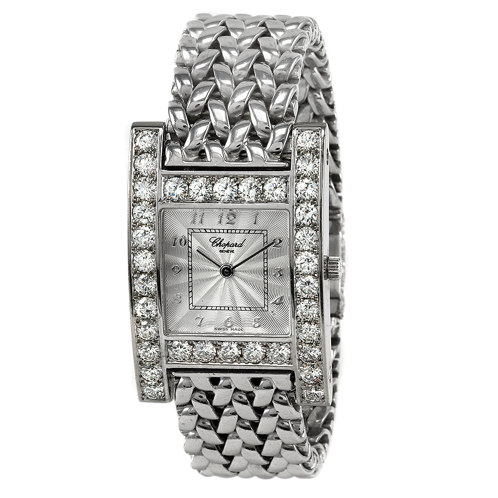 CHOPARD H  Diamond Bezel With 18 Karat White Gold Bracelet