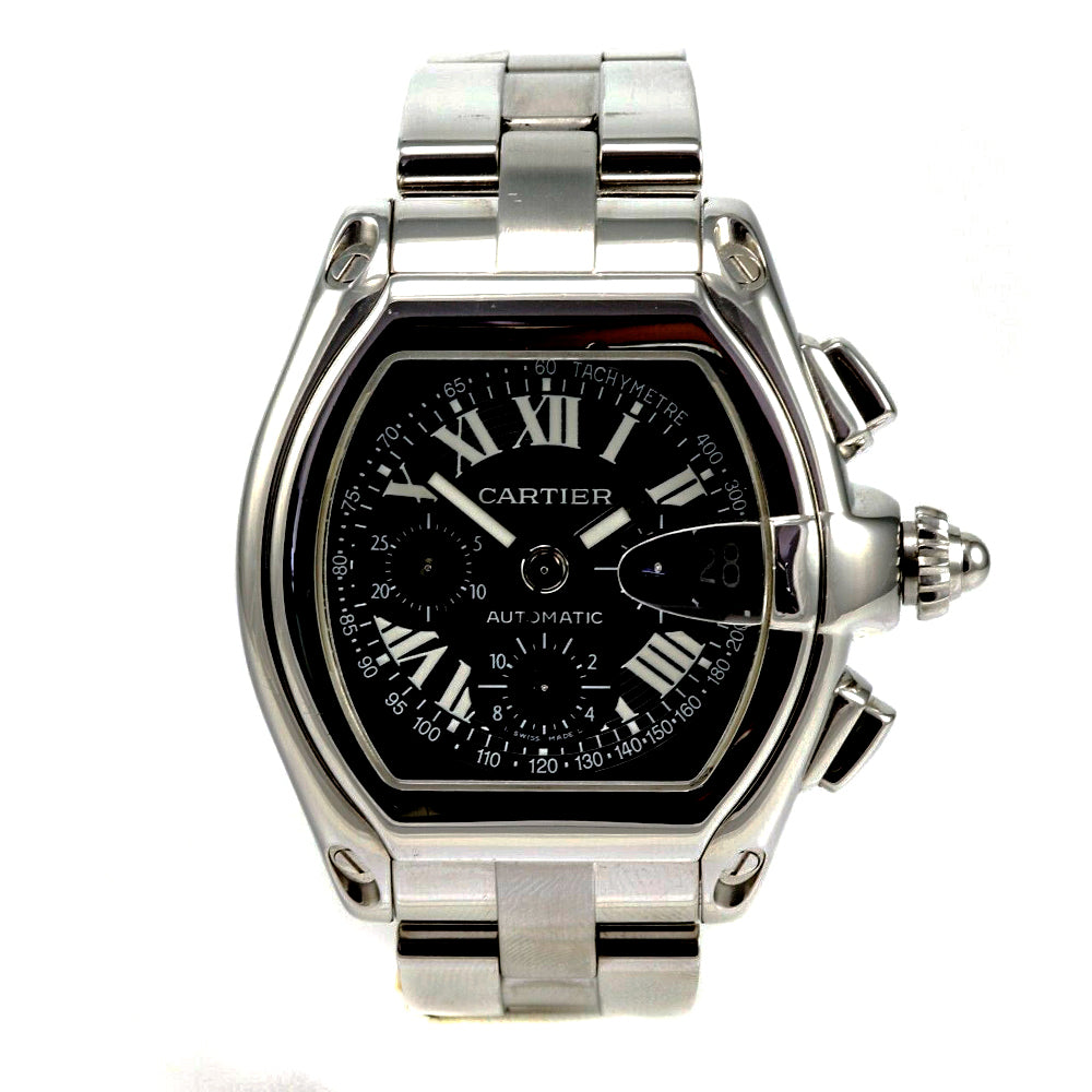 CARTIER Roadster Chronograph Stainless Steel 38x43 mm Automatic Watch