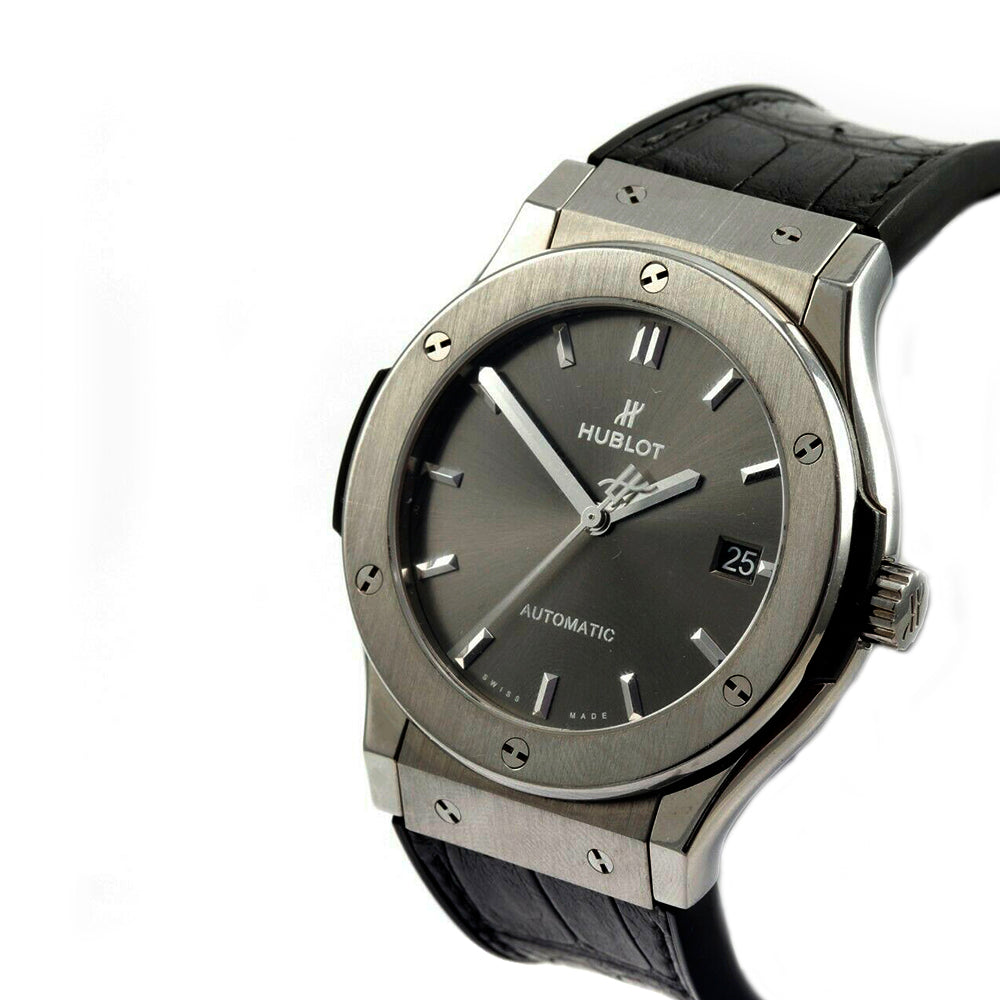 HUBLOT Classic Fusion 45mm Titanium&Stainless Steel Racing Grey Watch