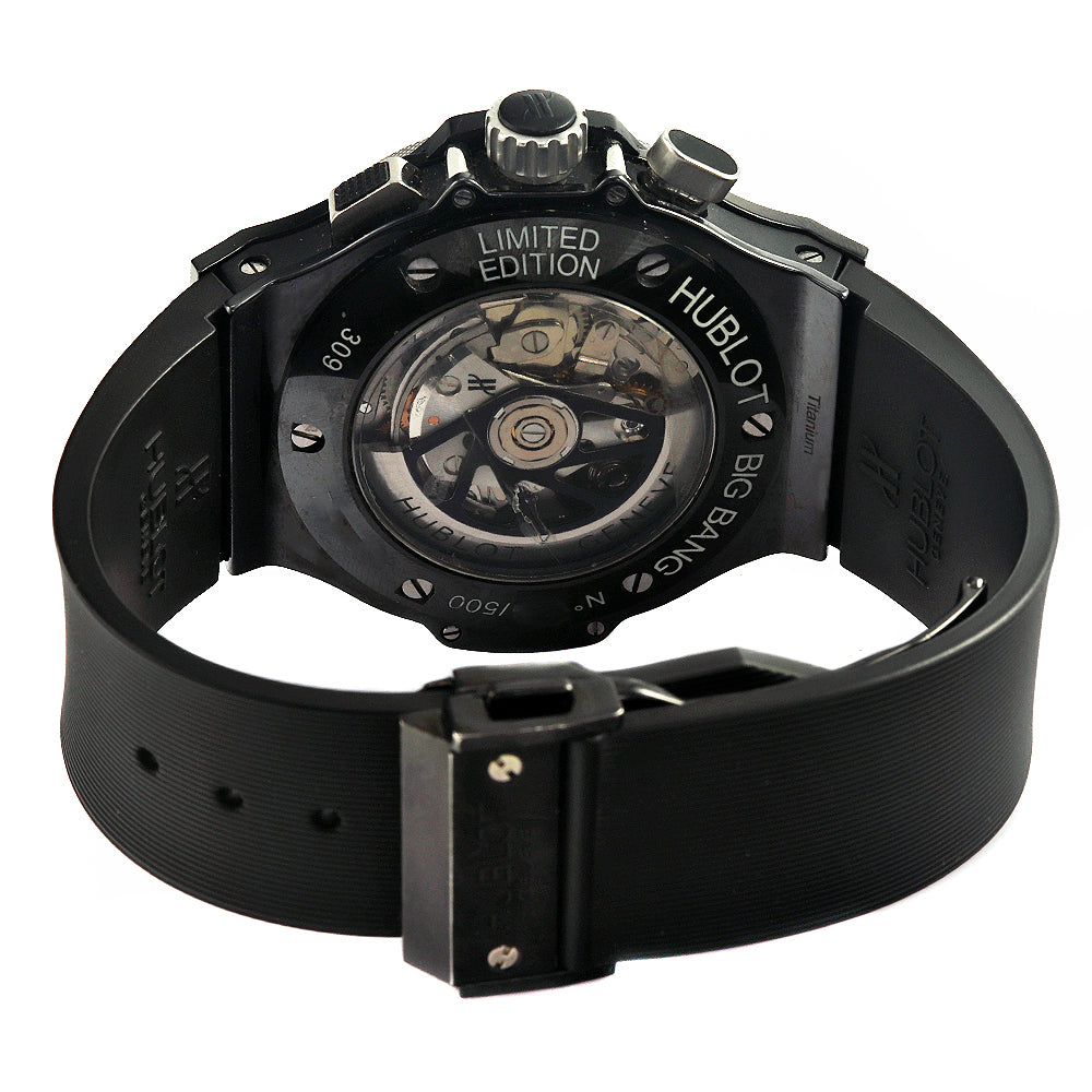 HUBLOT Ice Bang Limited Edition Chronograph 44mm Black Dial Watch
