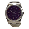 ROLEX DateJust 114300 39 mm Stainless Steel Red Grape Dial Automatic Watch