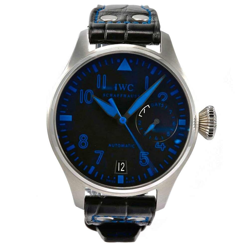 IWC Big Pilot Boutique Las Vegas 47mm Stainless Steel Black&Blue Watch