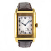 JAEGER-LECOULTRE Reverso Grande Date 18K Yellow Gold Brown Leather Band Watch
