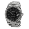 ROLEX DateJust Charcoal 41mm Stainless Steel&18K White Gold Fluted Bezel Roman Watch