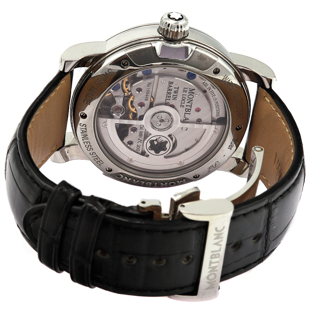 MONTBLANC Nicolas Rieussec Chronograph 43 mm Stainless Steel Leather Band Men's Watch
