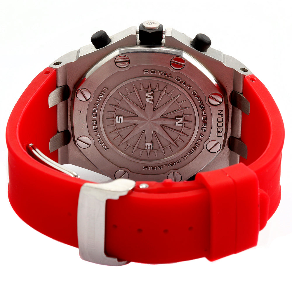 Audemars Piguet Royal OakOffshore Alinghi Polaris Chrono 42mm SS Red Band Watch