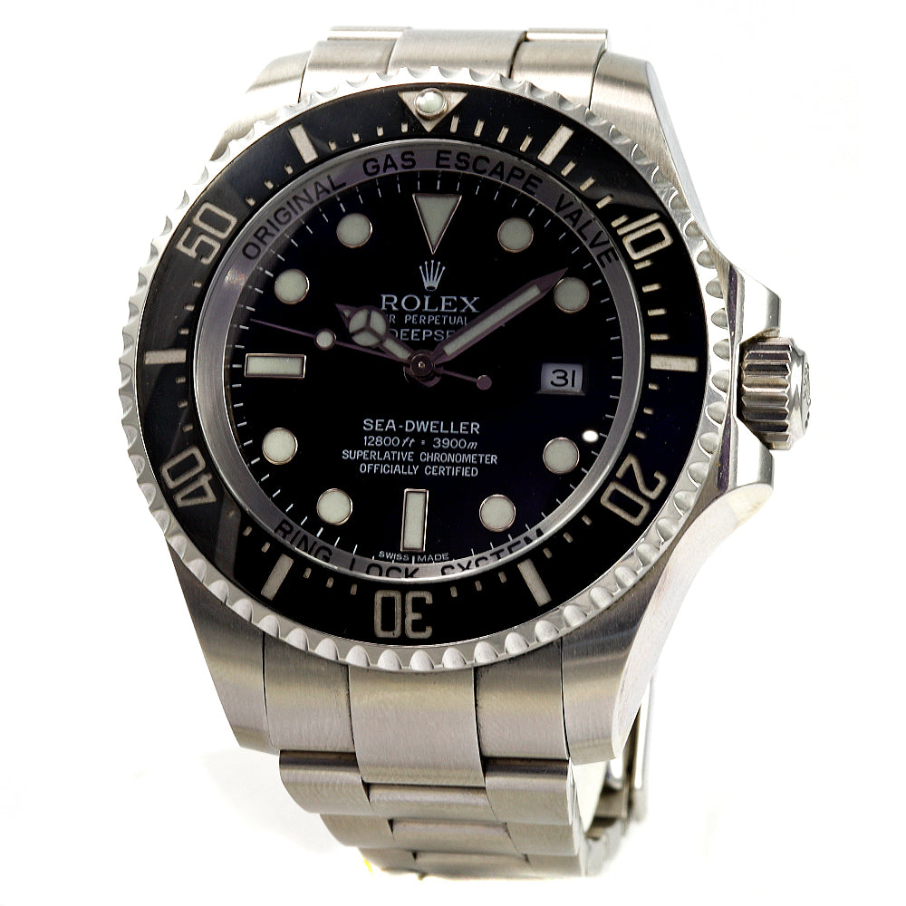 ROLEX Deep Sea Sea-Dweller 44 mm Stainless Steel Black Dial Men's Watch