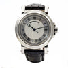 Breguet Big Date Marine 39mm Stainless Steel Leather Band Silver Dial Men's Watch