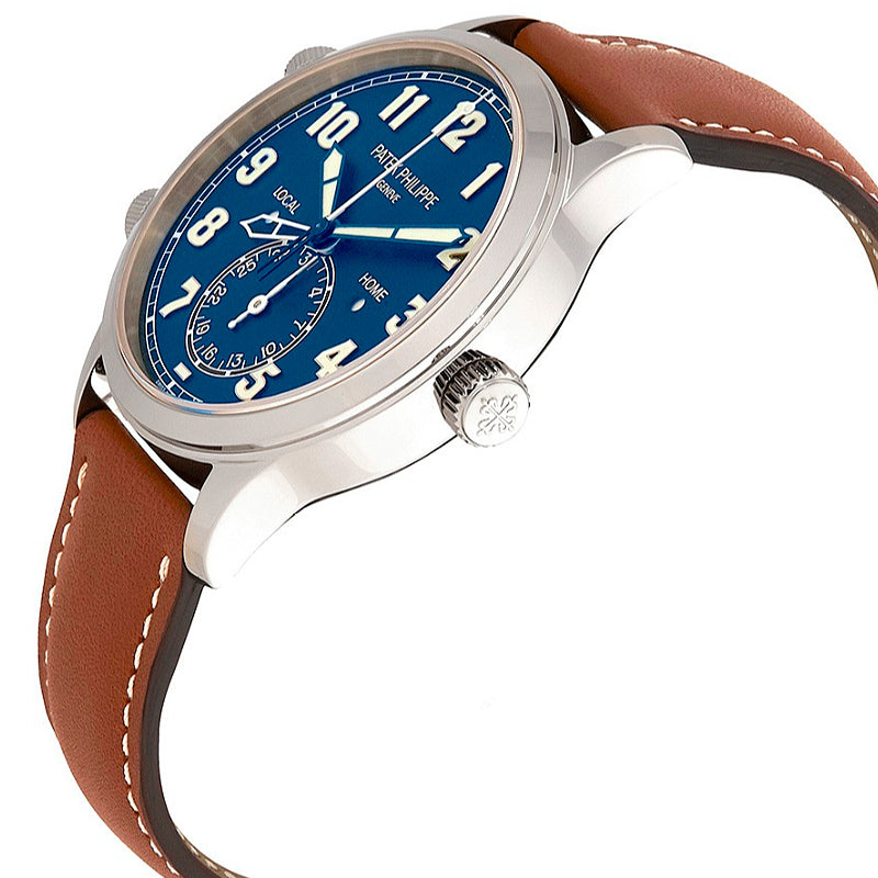 PATEK PHILIPPE Calatrava Pilot Travel Time Blue Dial Automatic Men's Watch