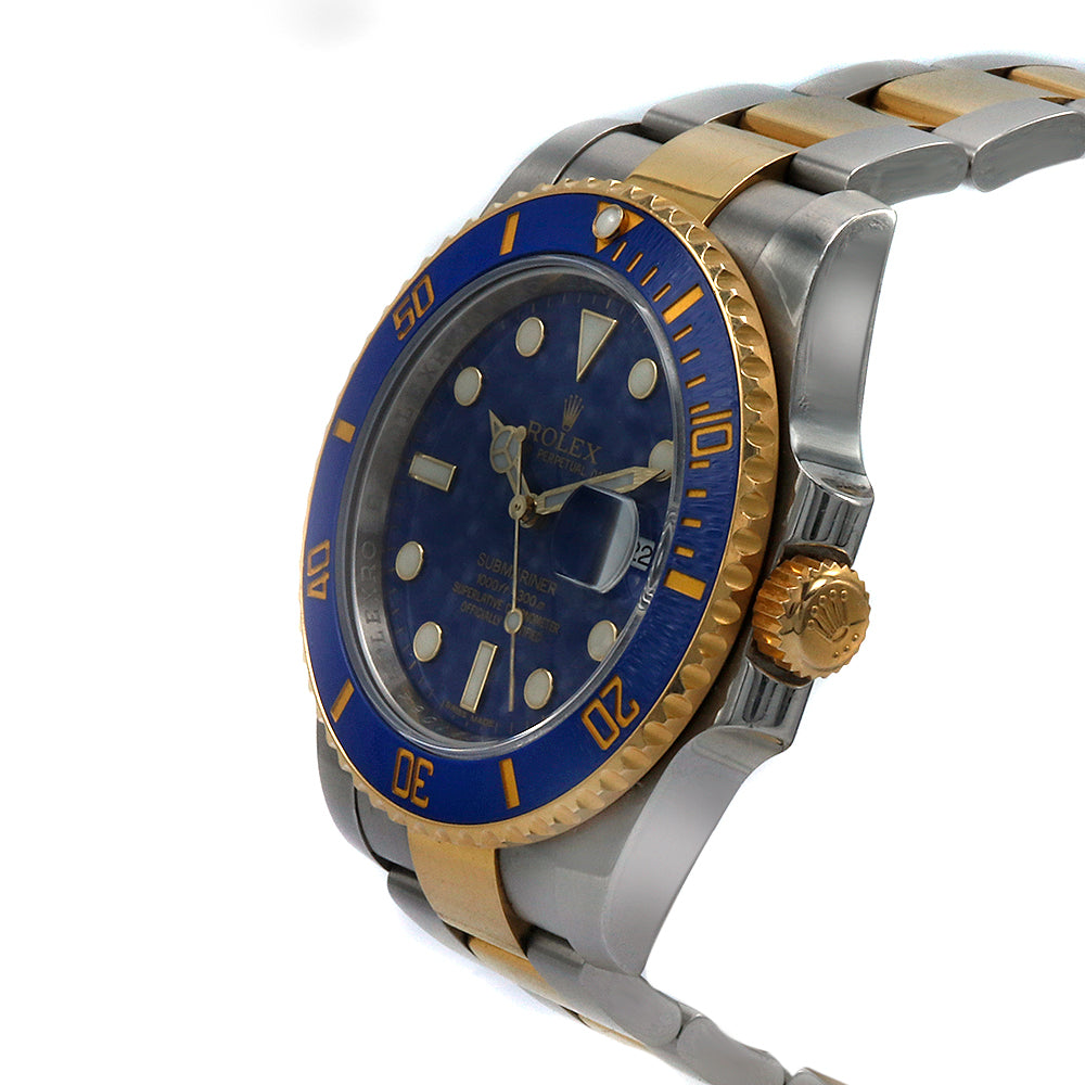 ROLEX Oyster Perpetual Submariner Date Two Tone 16613 SS\u002618K Gold Unisex  Watch
