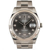 ROLEX Datejust 41mm Stainless Steel&18K White Gold Diamond Markers Watch