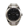 ROLEX DateJust Charcoal 41 mm Stainless Steel Smooth Bezel Roman Watch