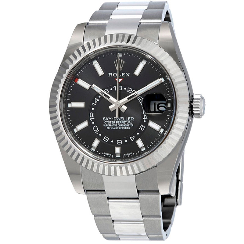 ROLEX Sky-Dweller Black Dial Automatic Men's Oyster Watch