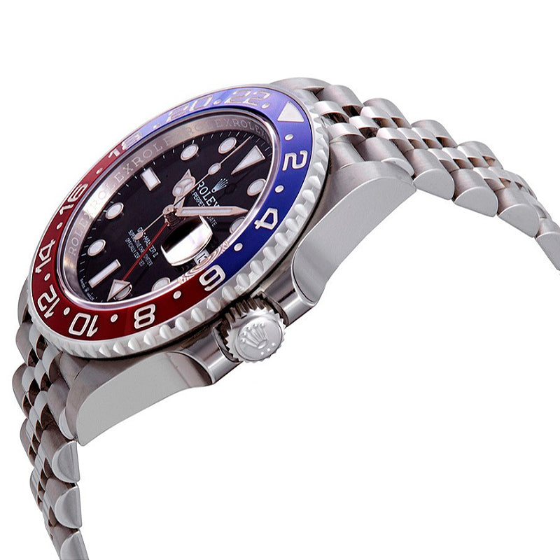 ROLEX GMT-Master II Pepsi Blue and Red Bezel Stainless Steel Jubilee Watch 126710BKSJ