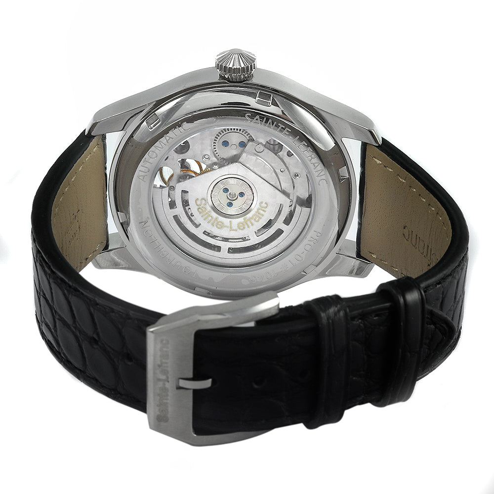SAINTE-LEFRANC Tourbillon Pro-01 42mm Stainless Steel Leather Band Watch