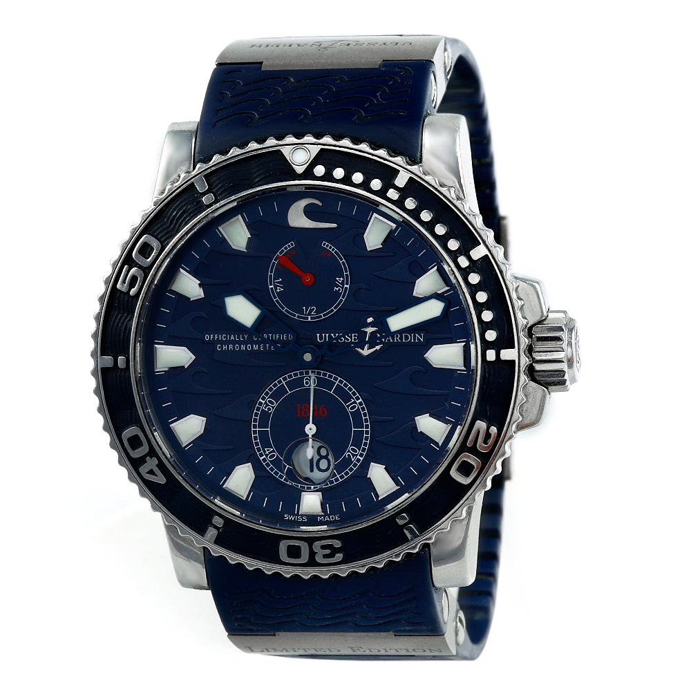 ULYSSE NARDIN Maxi Marine Diver Blue 43,7mm SS Rubber Men's Watch 263-36LE-3