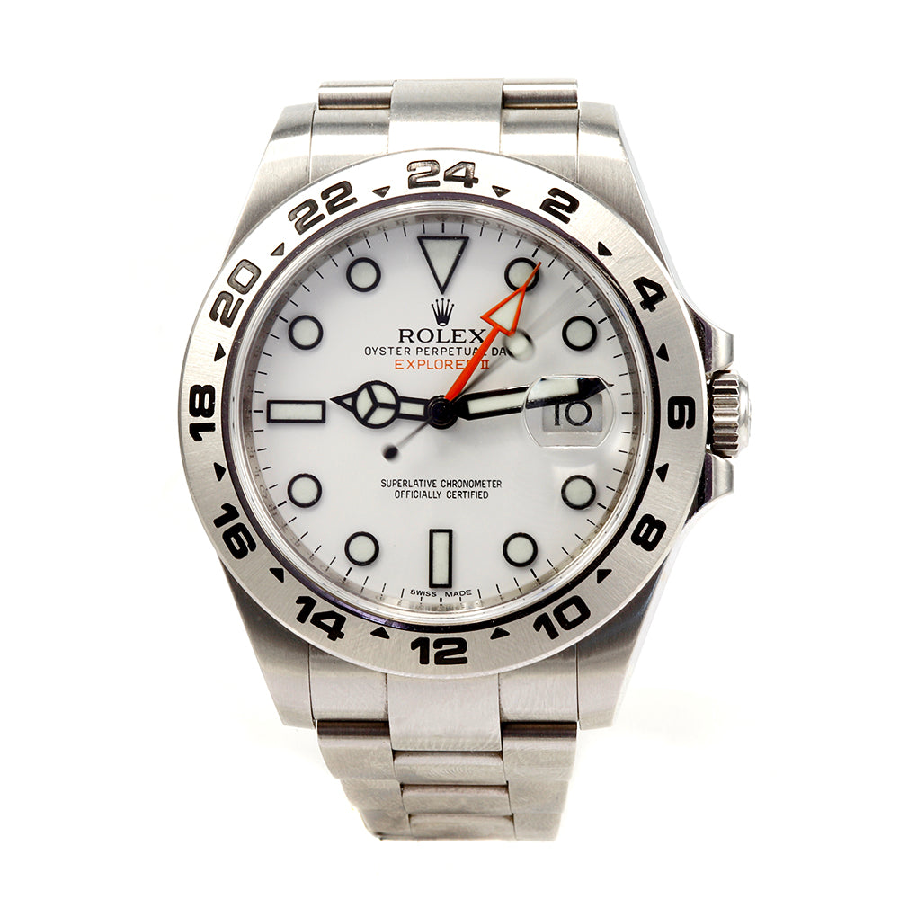 ROLEX 216570 Explorer II 42 mm Stainless Steel White Dial Men's Watch