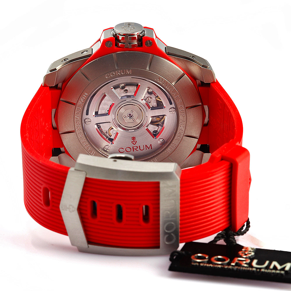Corum Admiral's Cup AC-One 45 Tides 277.101.04/F376 AR12 Red Steel Rubber Watch