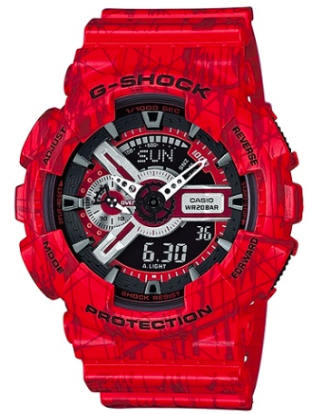 G-SHOCK GA-110SL-4A RED SLASH WATCH