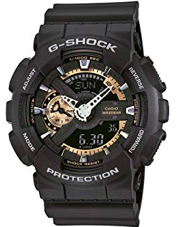 G-Shock GA-110RG-1ACR Resin Case Black Resin Band Black Dial Watch