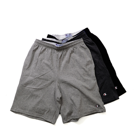 Champion Men's Shorts with Small C Logo Light Weight. Black.