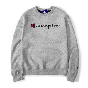 Champion Men's Sweater Classic Script Logo Medium Weight
