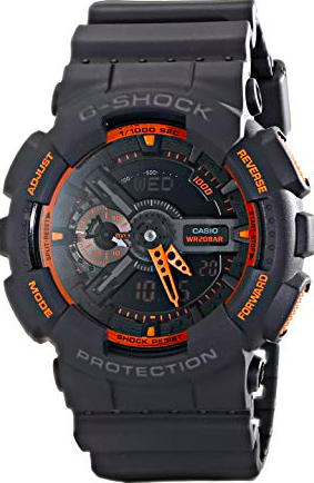 G-Shock GA-110TS-1A4CR  Analog-Digital Watch With Grey Resin Band
