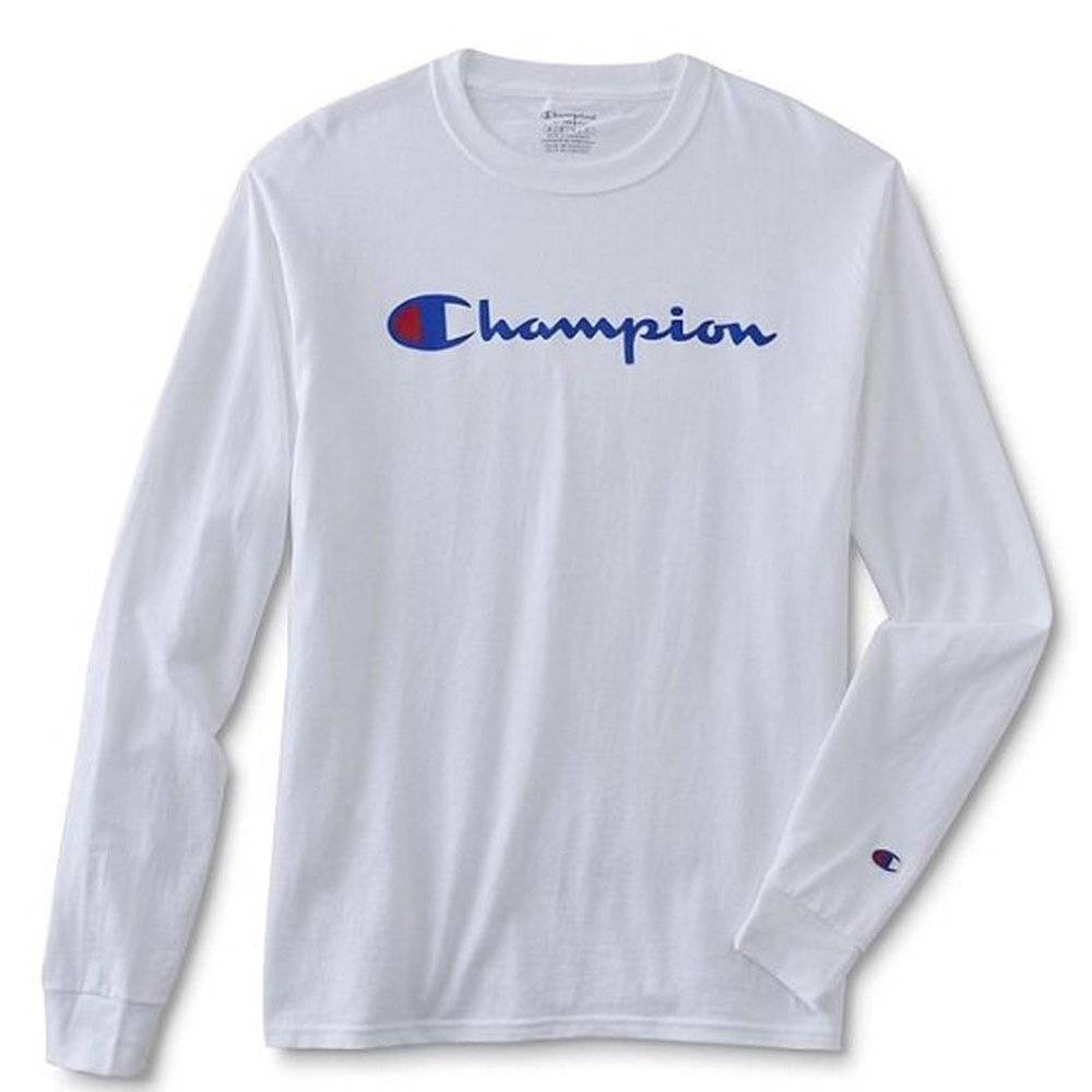 Champion Mens Long Sleeve Crewneck Jersey Tee