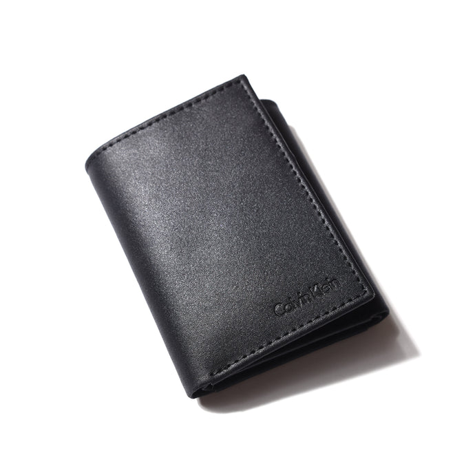 Calvin Klein Men's Leather Trifold Wallet with Key Fob 79027
