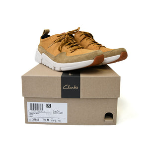 CLARKS Tri Active Run Mens Tan Suede Athletic Lace 26134843